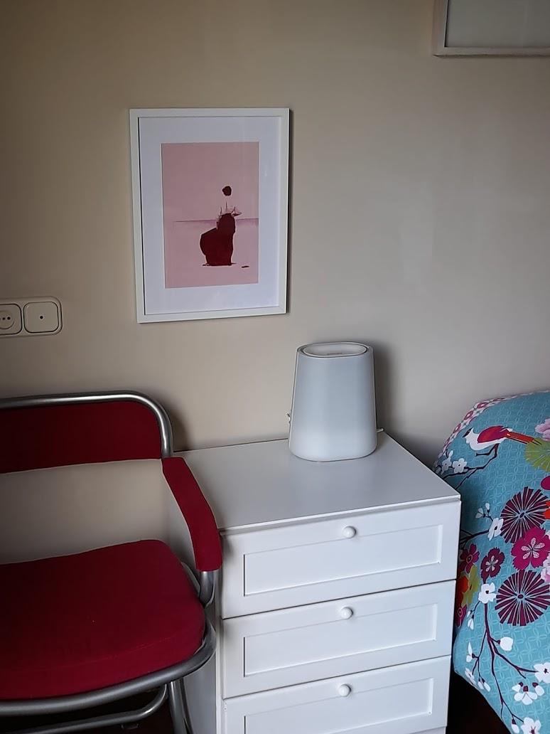 Pintura rosa de la serie wallpaper de Maria del Roxo para decorar el dormitorio