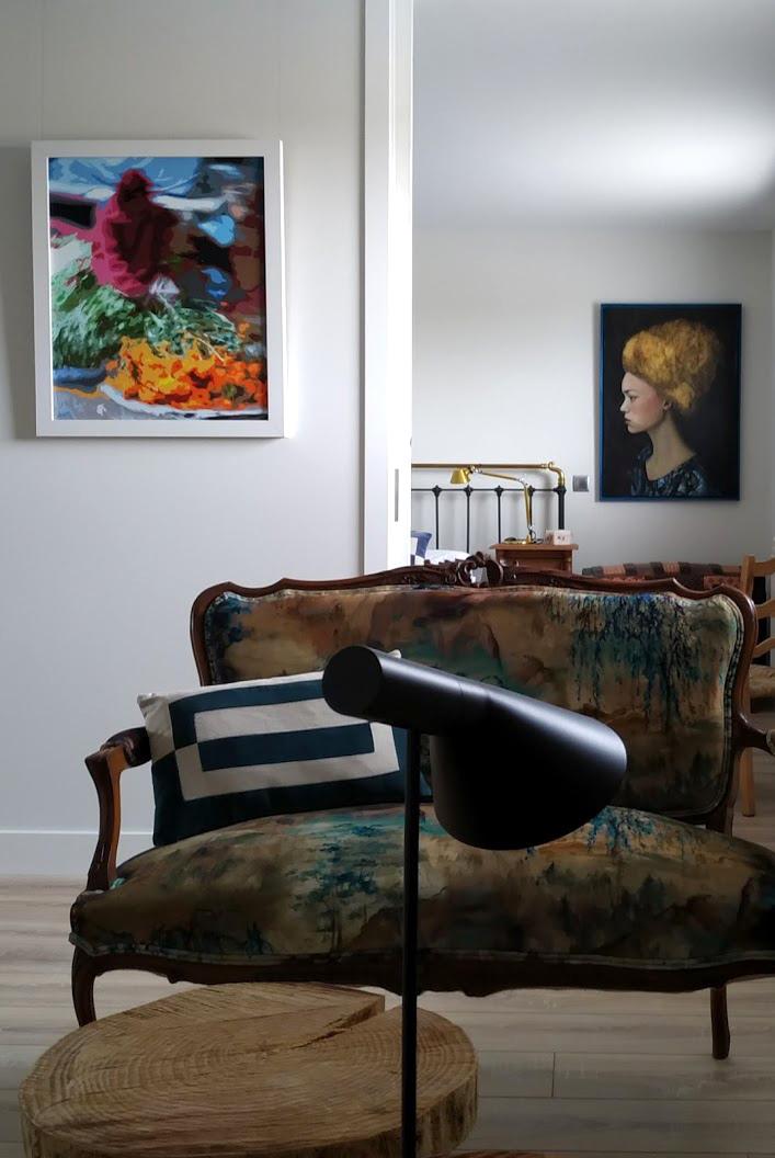 Maravillosa combinacion de arquitectura mobiliario vintage piezas rusticas y arte de maria del roxo