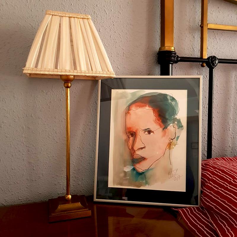 Decora tu hogar con un boceto enmarcado de Maria del Roxo