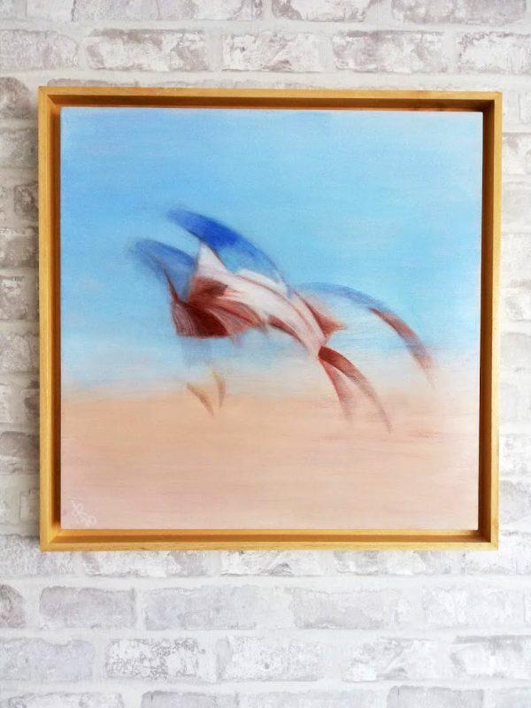 Un jinete y un caballo en la playa de Ribadesella. Figurativismo abstracto
