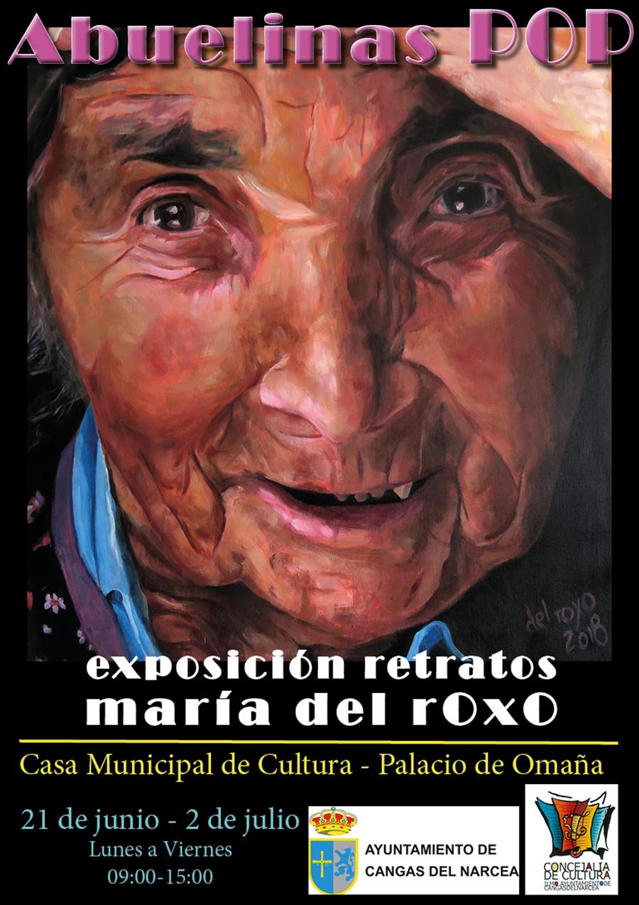 Exposición de retratos Abuelinas Pop Cangas del Narcea María del Roxo
