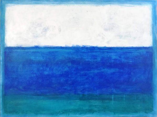 Paisaje abstracto marino blanco azul verde relajacion rincon zen