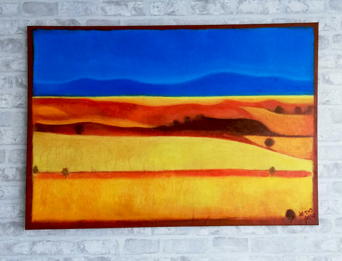 Un paisaje abstracto lleno de vitalidad y color. Sierra del Alto Rey en Guadalajara