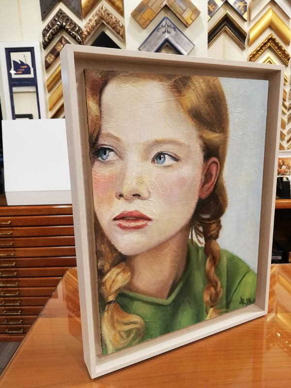 retrato-chica-pelirroja-trenza-ojos-azules-pintura-acrilica