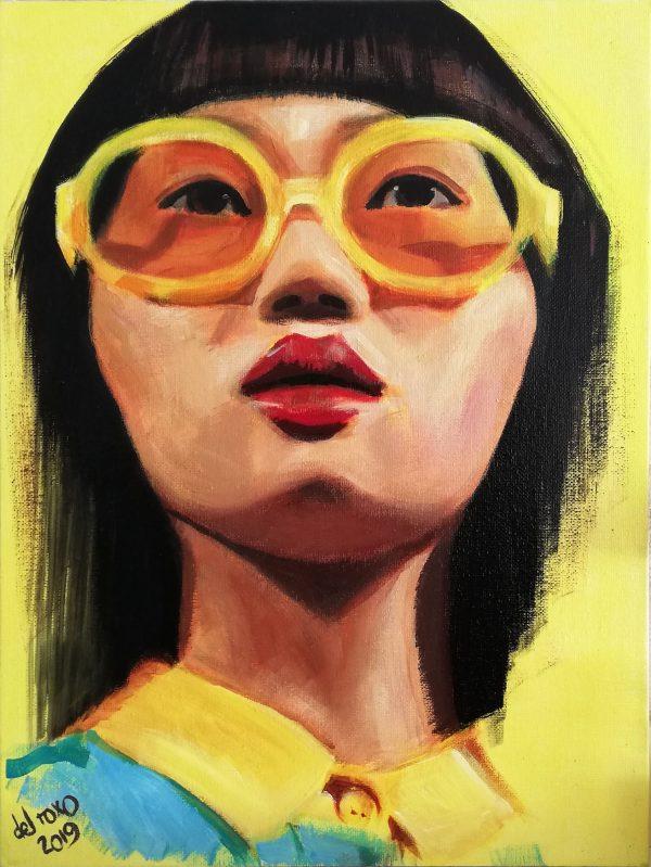 Un retrato Pop de Mujer Oriental que aporta energía positiva al instante