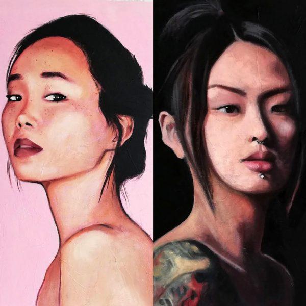 Dos mujeres y un destino, el yin y el yang, el lado oscuro y el luminoso. Dos retratos de Maria del Roxo