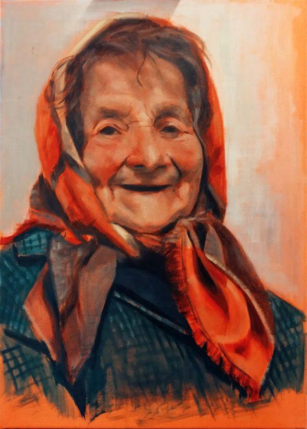 retrato-de-abuela-asturiana-con-pañuelo-retratos-por-encargo-pintura